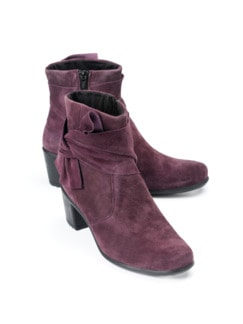 Federleicht-City-Stiefelette Bordeaux Detail 1