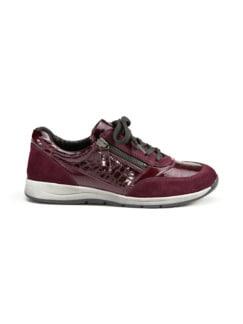 Reißverschluss-Sneaker Easyfit Bordeaux Detail 2