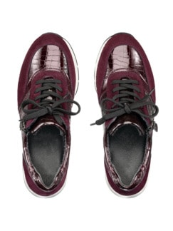 Reißverschluss-Sneaker Easyfit Bordeaux Detail 4