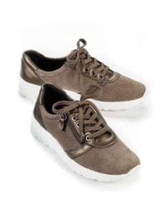 Hallux-Sneaker Extraweich Taupe Detail 1