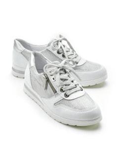 Reißverschluss-Sneaker Softness Weiß Detail 1