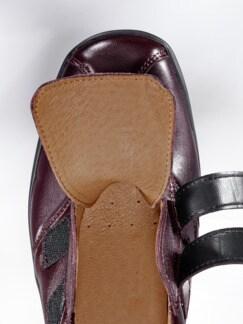 Hallux-Klettslipper Federleicht Bordeaux Detail 3