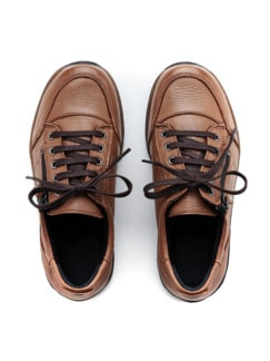 Hirschleder-Sneaker Braun Detail 3
