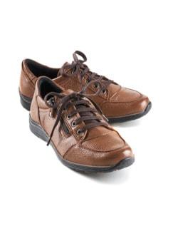 Hirschleder-Sneaker Braun Detail 1