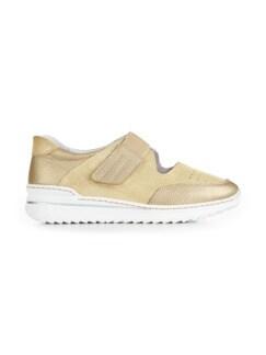 Bequem-Klett-Sneaker Wohlfühlweite Beige Detail 2