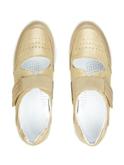 Bequem-Klett-Sneaker Wohlfühlweite Beige Detail 4