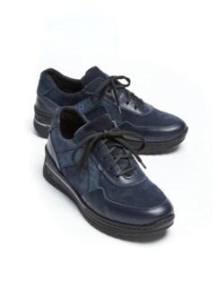 Bequem-Sneaker Wohlfühlweite Marine metallic Detail 1