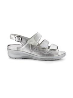 Waldläufer-Sandale Extraweit Silber Detail 2