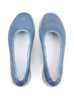 Bequem-Ballerina Softgefühl Jeansblau Detail 3