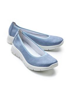 Bequem-Ballerina Softgefühl Jeansblau Detail 1