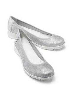 Wolkenweich-Ballerina Blütenzauber Grau/Silber Detail 1