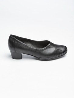 Softgel-Pumps Schwarz Detail 2