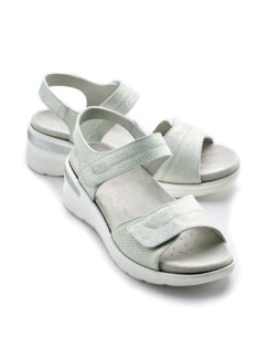 Klett-Sandalette Chic & Sicher Grau animal Detail 1