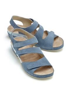 Massage-Sandale Fühl-Dich-Wohl Jeansblau Detail 1