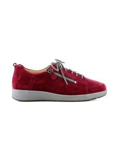 Ganter-Prophylaxe-Sneaker Rubinrot Detail 2