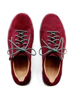 Ganter-Prophylaxe-Sneaker Rubinrot Detail 4