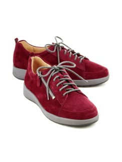 Ganter-Prophylaxe-Sneaker Rubinrot Detail 1