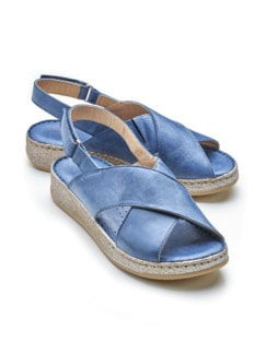 Superweich-Sandale Memory-Plus Blau Detail 1