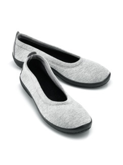 Hallux-Soft-Slipper Night&Day Grau meliert Detail 1