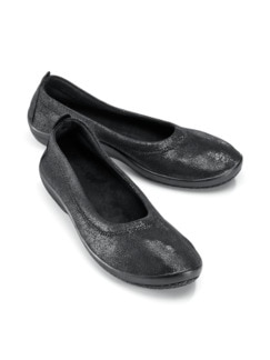 Hallux-Soft-Slipper Night&Day Schwarz metallic Detail 1