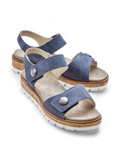Klett-Sandale Softpolster Blau Detail 1