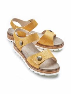 Klett-Sandale Softpolster Gelb Detail 1
