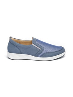 Ganter-Prophylaxe-Slipper Jeansblau Detail 2