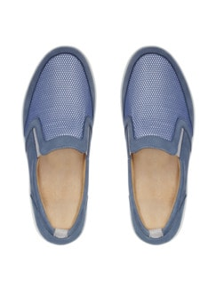 Ganter-Prophylaxe-Slipper Jeansblau Detail 4