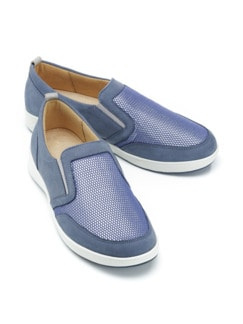 Ganter-Prophylaxe-Slipper Jeansblau Detail 1