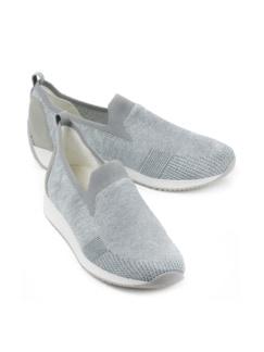 Hallux-Slip-on Fusion 4 Grau/Silber Detail 1