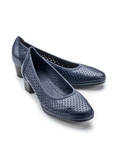 Softgel-Pumps Klima Blau Detail 1