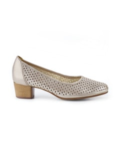 Softgel-Pumps Klima Beige metallic Detail 2