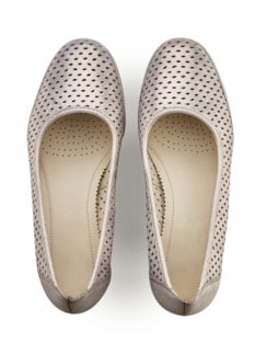 Softgel-Pumps Klima Beige metallic Detail 3