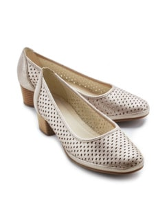 Softgel-Pumps Klima Beige metallic Detail 1