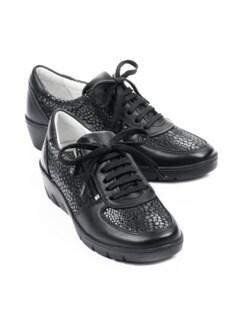 Reißverschluss-Sneaker Polstertraum Schwarz Detail 1