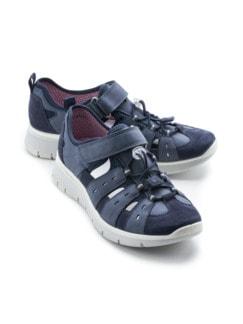 Antischock-Sandalenschuh Open Air Jeansblau Detail 1