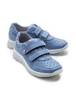 Wohlfühl-Klett-Sneaker Jeansblau Detail 1