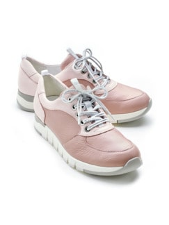 Waldläufer-Hirschleder-Sneaker Rosa/Rosé Detail 1