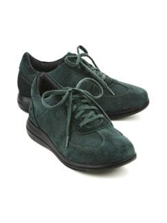 Green Comfort-Sneaker Federleicht Dunkelgrün Detail 1