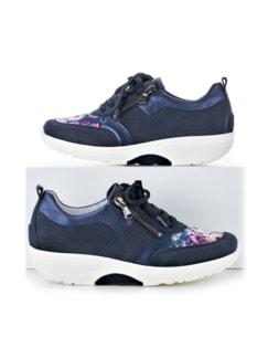 Waldläufer-Rollsohlen-Sneaker Marine/Weiß Detail 1
