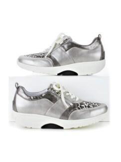 Waldläufer-Rollsohlen-Sneaker Silber/Weiß Detail 1