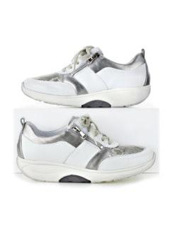 Waldläufer-Rollsohlen-Sneaker Weiß/Silber Detail 1