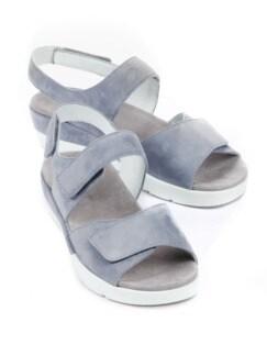 Klett-Sandale Extraweit Jeansblau Detail 1