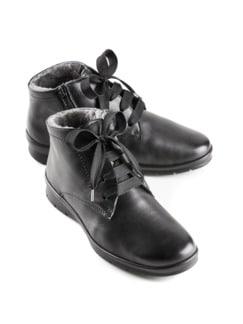 Lammfell-Boots Extraweit Schwarz Detail 1