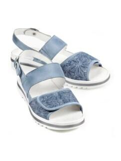 Waldläufer-Prophylaxe-Sandale Soft Jeansblau Detail 1