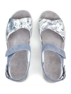 Luftpolster-Sandale Weitenkomfort Hellblau Detail 3