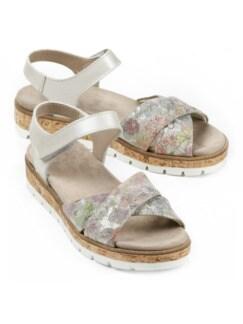 Sandale-Polstertraum Blüten