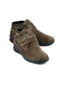 Hallux-Lammfell-Klett-Boots Taupe Detail 1