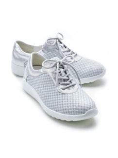 Hallux-Extraweit-Sneaker Weiß/Silber Detail 1