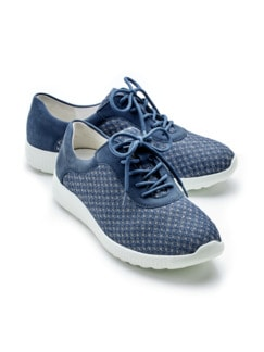 Hallux-Extraweit-Sneaker Jeans/Silber Detail 1